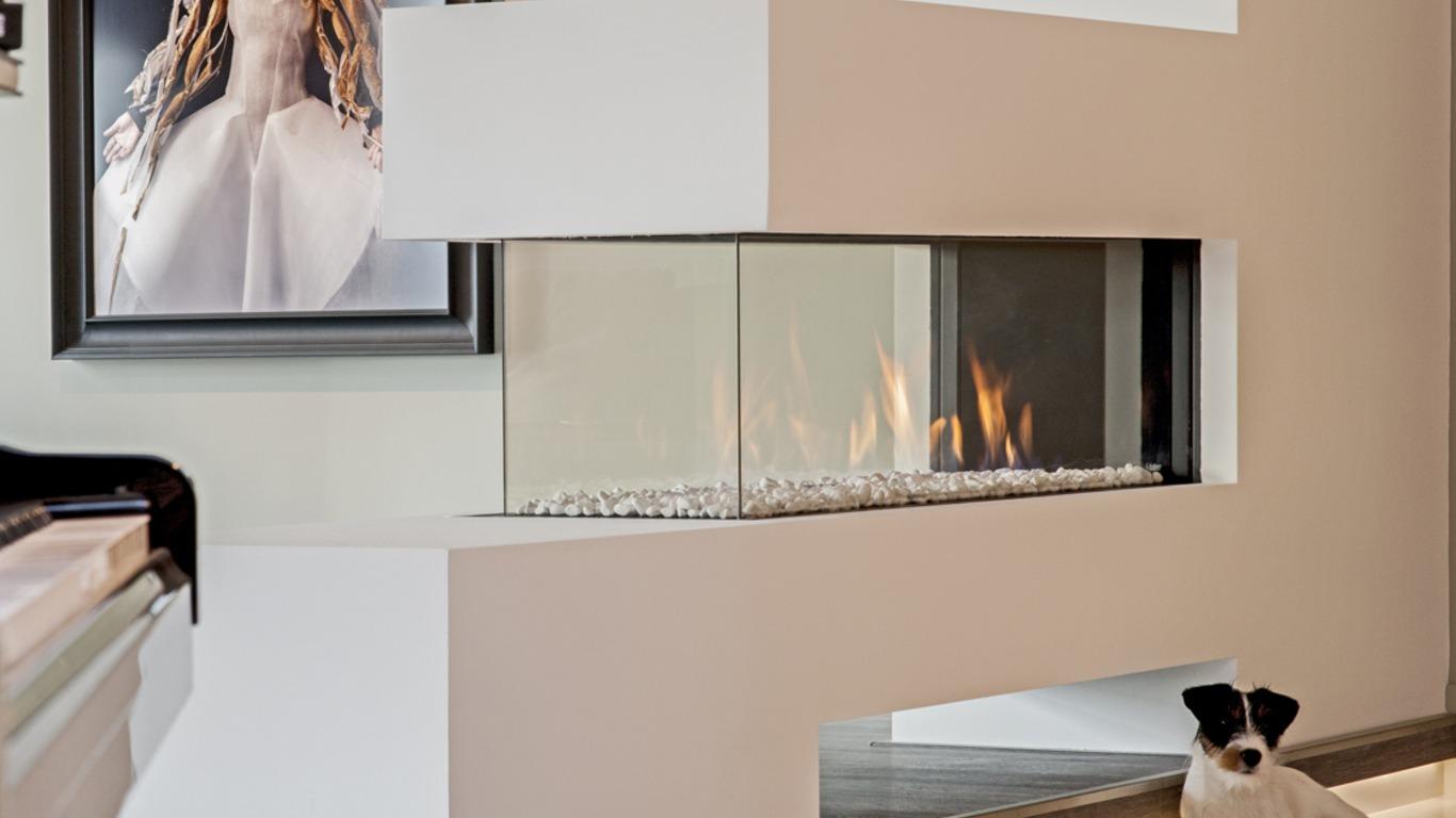 Faber Aspect Premium RD L gashaard met witte kiezels| Boxman|Van Wijk